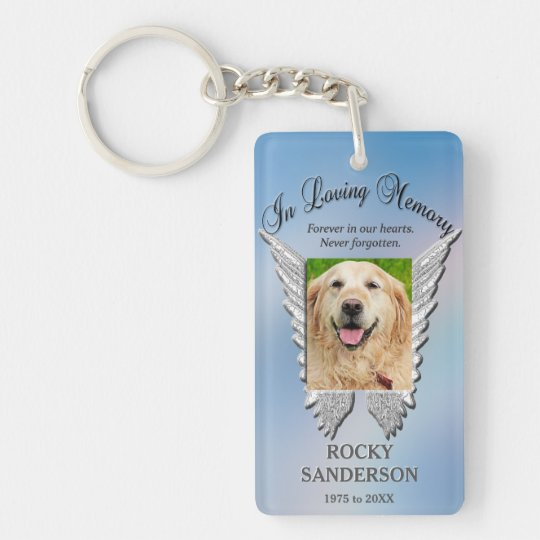 Pet Memorial Double-Sided Rectangular Acrylic Keychain
