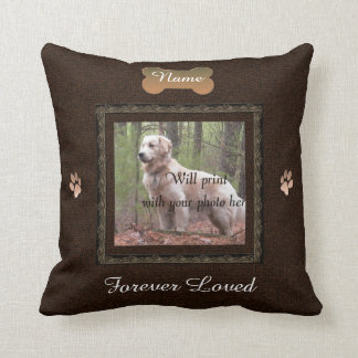 Pet Memorial - Elegant Perfect Memories Throw Pillow