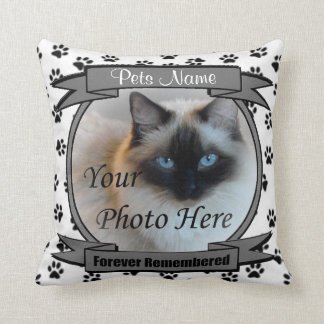 Pet Memorial - Forever Remembered Keepsake Throw Pillow
