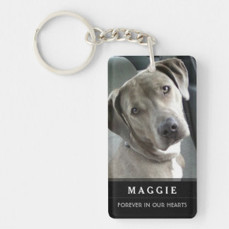 Pet Memorial God Saw Her Getting Tired Poem-Female Double-Sided Rectangular Acrylic Keychain
