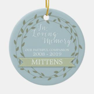 Pet Memorial 'In Loving Memory' Custom Photo Ceramic Ornament