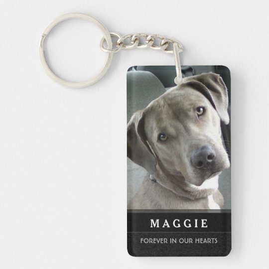 Pet Memorial Keychain - Prayer on Back
