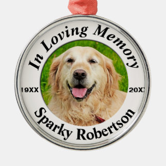 Pet Memorial Metal Ornament