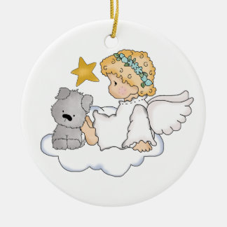 Pet memorial ornament, can be personalized ceramic ornament