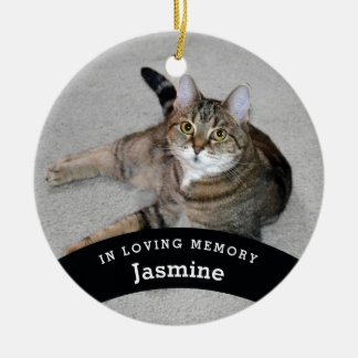 Pet Memorial Personalized Add Name and Photo Ceramic Ornament