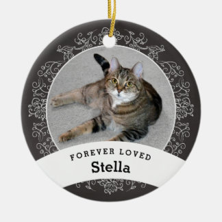 Pet Memorial Personalized Chalkboard Add Photo Ceramic Ornament