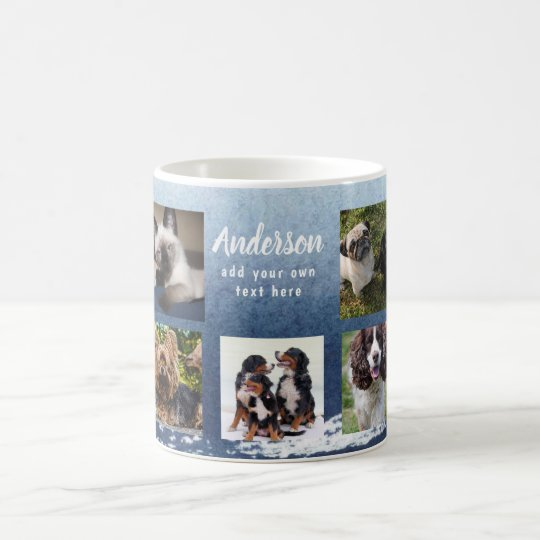 Pet Memorial PHOTO COLLAGE Gift - ADD TEXT Coffee Mug