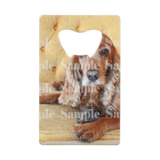 Pet memorial photo PERSONALIZE Credit Card Bottle Opener
