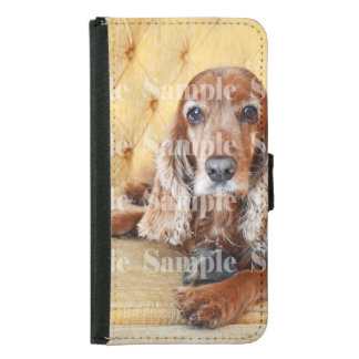 Pet memorial photo PERSONALIZE Samsung Galaxy S5 Wallet Case