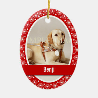 Pet memorial photo verse PERSONALIZE Ceramic Oval Ornament