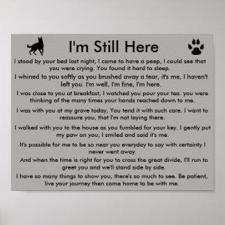 Pet memorial poster