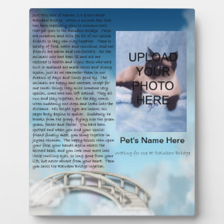 Pet Memorial Rainbow Bridge Plaque - Personalize