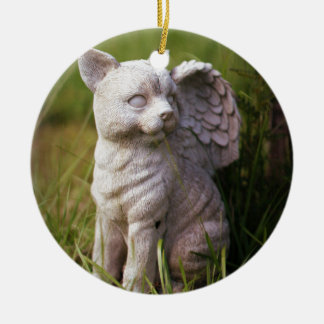 Pet Memorial Round Ceramic Ornament
