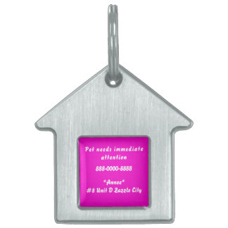 Pet needs immediate attention dog tag