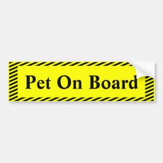 Pet On Board Bumper Sticker