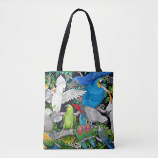 Pet Parrots of the World All Over Tote Bag