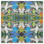 Pet Parrots of the World  Fabric