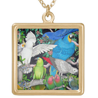 Pet Parrots of the World Necklace