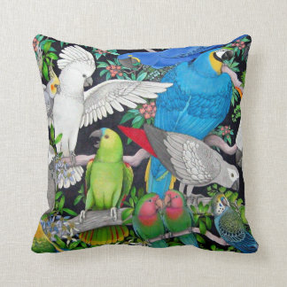 Pet Parrots of the World Pillow