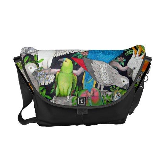 Pet Parrots of the World Rickshaw Messenger Bag