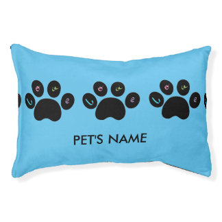 """""""Pet Paw Print with Love"""" Customizable Small Dog Bed"""