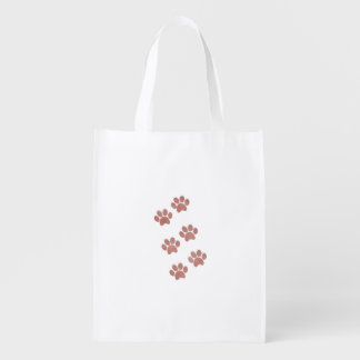Pet Paw Prints for Animal Lovers Grocery Bag