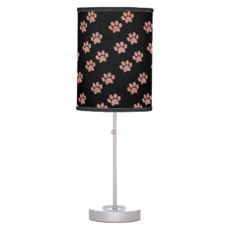 Pet Paw Prints for Animal Lovers Table Lamp