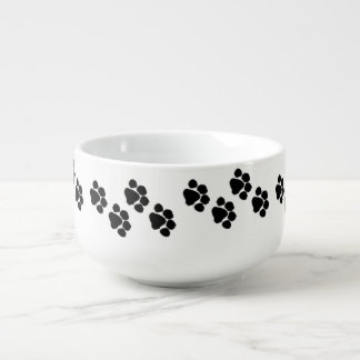 Pet Paw Prints Soup Mug