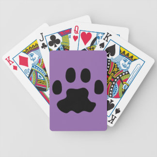pet paws bicycle playing cards