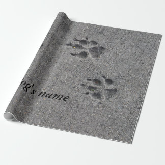 Pet Paws in Cement – Always There Wrapping Paper