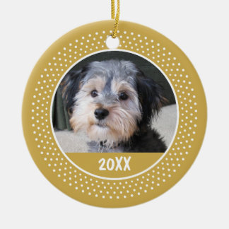 Pet Photo Frame - Baby Kid or Other - SINGLE-SIDED Round Ceramic Ornament