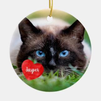 Pet Photo Memorial - Add Your Photo - Dog Photo Ceramic Ornament