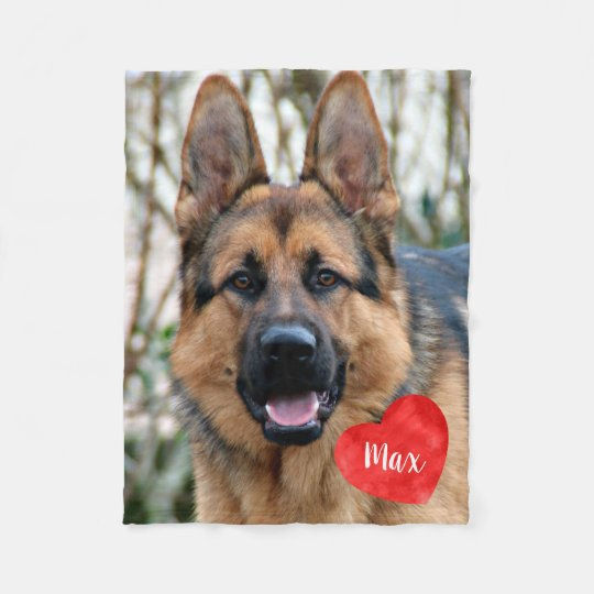 Pet Photo Memorial - Add Your Photo - Dog Photo Fleece Blanket