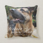 Pet Photo Memorial Gift | Forever in our Hearts Throw Pillow