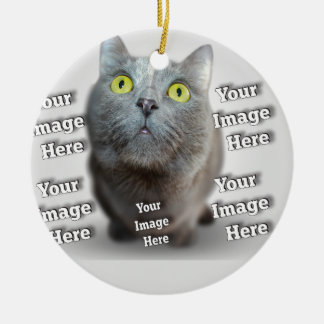 Pet Photo Template Custom Image Create Your Own Ceramic Ornament