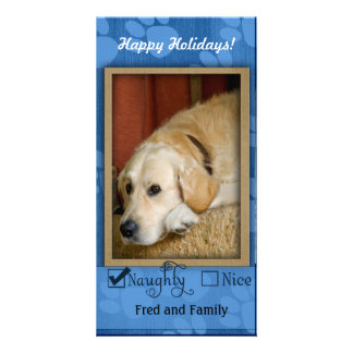 Pet Photo Template - Naughty or nice Personalized Photo Card