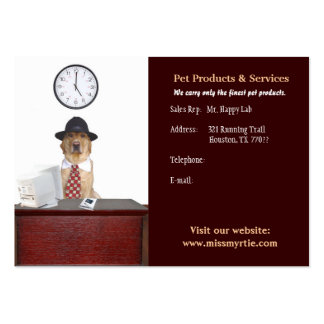 Pet Products & Services Business Cards