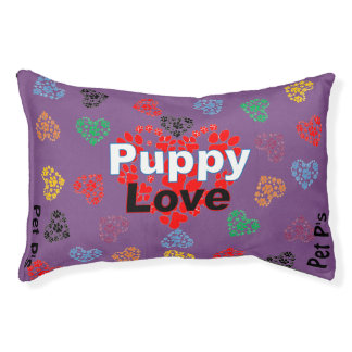 Pet P's Paw Hearts *Puppy Love Collection* Small Dog Bed