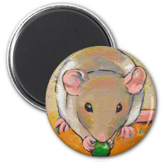 Pet rat adorable cute fun art Cuteness with a Pea Magnet
