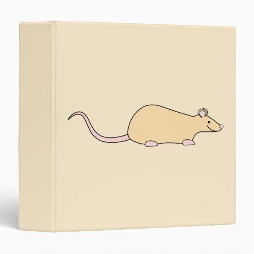 Pet Rat. Fawn. Vinyl Binders