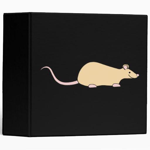Pet Rat. Fawn. 3 Ring Binders