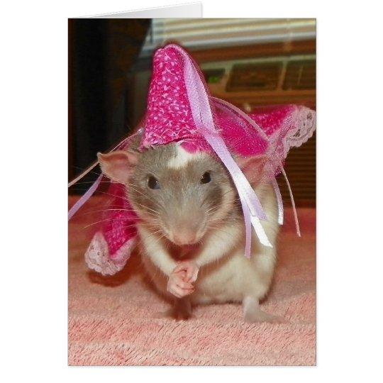 Pet Rat Princess Reba Note Card