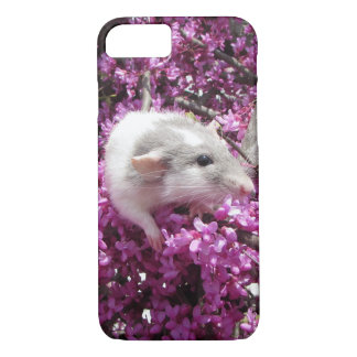 Pet Rat Rahab in Blossoms iPhone 8/7 Case