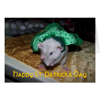 Pet Rat Ruby St. Pat's Greeting Card