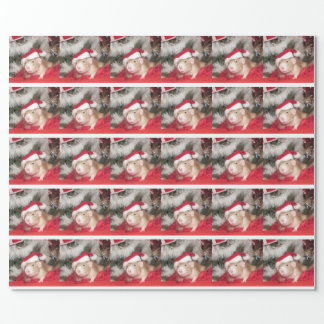 Pet rat Santa Birch Holiday Wrapping Paper