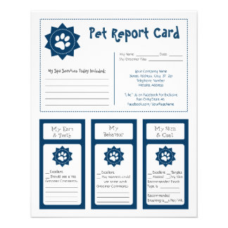 Pet Report Cards - Blue