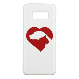Pet Rescue Cat and Dog Red Heart of Love Case-Mate Samsung Galaxy S8 Case