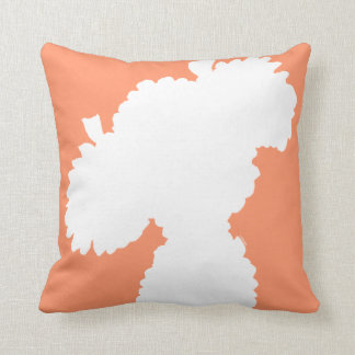 Pet Salon Spa Decor Poodle Splash Peach Throw Pillow