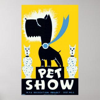 Pet Show 1937 WPA Vintage Poster