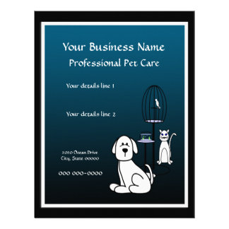Pet Sitter Boarding Business Flyer